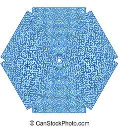 Blue Labyrinth. Kids Maze