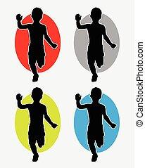Kid running logo