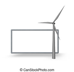 windpower - wind generator and blank board for your content...