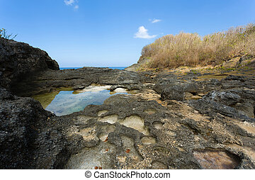 coastline at Nusa Penida island - dream coastline at Bali,...