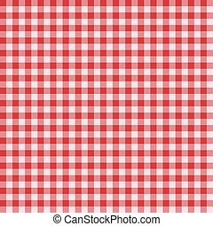 Classic Gingham pattern - Traditional Gingham pattern in red...