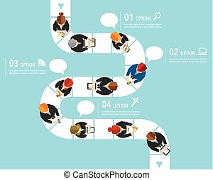 Business and Office Social Network Vector Design