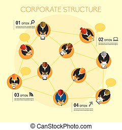 Business and Social Network Vector Design