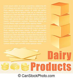 Food theme with dairy products illustration