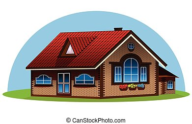 3d house illustration