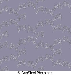 Seamless Abstract Floral Shimmering Pattern