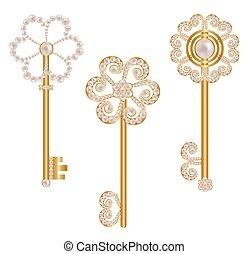 Set of gold keys