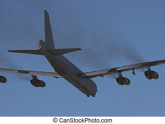 b52 fly past before landing