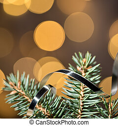 Christmas background with twig - Christmas background with...