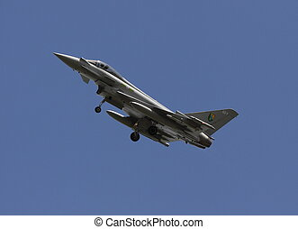 eurofighter typoon - typoon in circuit for landing