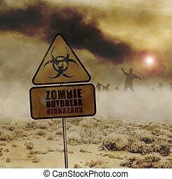 zombies desert sign