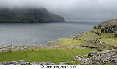 Typical landscape on Faroe Islands - Typical landscape on...