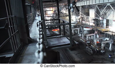 Shop top steel plant - Metallurgical plant in the enterprise