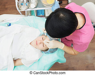 Cosmetology procedure mesoteraphy Rejuvenation...