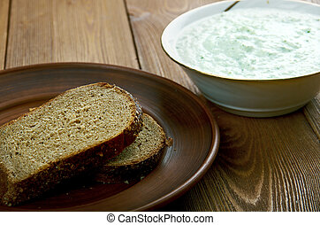Benedictine - spread made with cucumbers and cream...