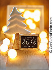Christmas greeting card with text 2016