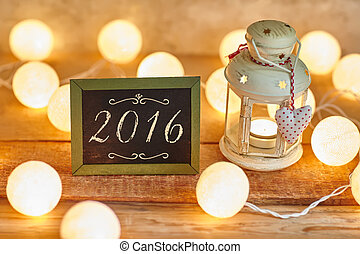 Happy new year 2016 - Christmas background 2016