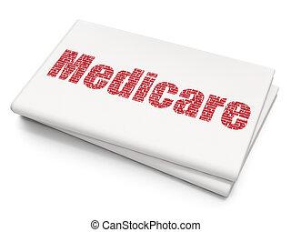 Medicine concept: Medicare on Blank Newspaper background