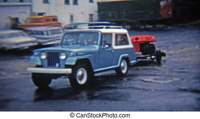 1972: 6 wheel amphibious all - Original vintage 8mm film...