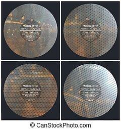 Conjunto, de, 4, Música, Álbum, cubierta,...