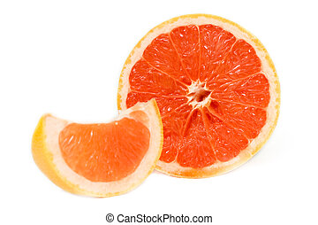 Red Grapefruit - Ruby Red Grapefruits on white background