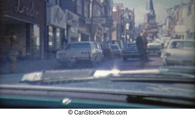 1973: Driving through the streets - Original vintage 8mm...