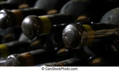 Wine Bottles In A Wine Cellar - Wine bottles in a wine...