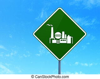 Manufacuring concept: Oil And Gas Indusry on road sign background