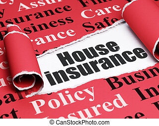 Insurance concept: black text House Insurance under the...