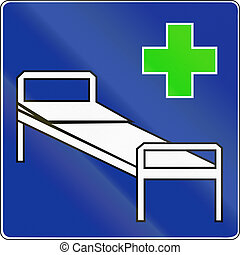 An official Polish Road Sign - Hospital