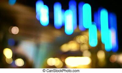 Holiday seasons night city light - Video of Holiday seasons...