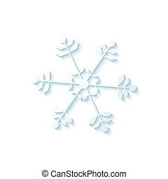 Snowflake - Abstract isolated snowflake on a white...