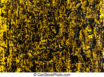 Yellow Color Abstract Wood and Rain Water - Yellow grunge...