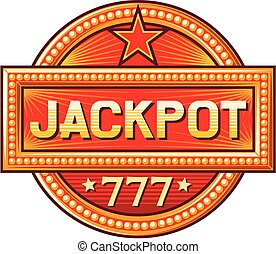 jackpot sign (jackpot label)