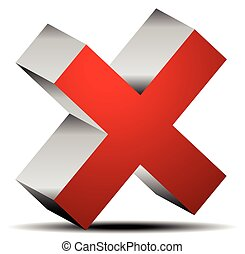 Red cross graphics Remove, delete button, icon editable...