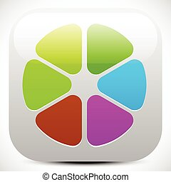 Abstract colorful icon, color wheel, color palette graphics...