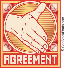 Agreement poster design