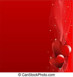 Red Valentine\'s day background - Grange vector Valentine's...