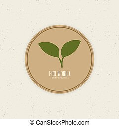 Sustainability - abstract sustainability label on a white...
