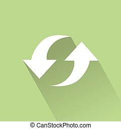 Sustainability - abstract sustainability icon on a green...