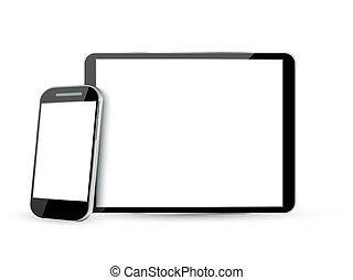 Computer Screen, Tablet PC and Mobile Phone - Set of...