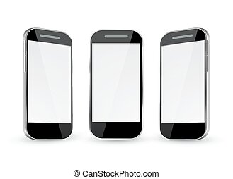 Mobile Phone with different views. - Mobile Phone Vector...