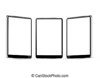tablet with different views. - tablet Vector Illustration...