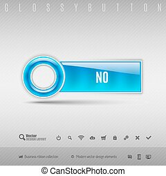 Blue Plastic Button - Blue plastic button with circle Vector...