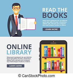 Read books, online library flat