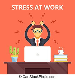 Stress at work. Stress situation