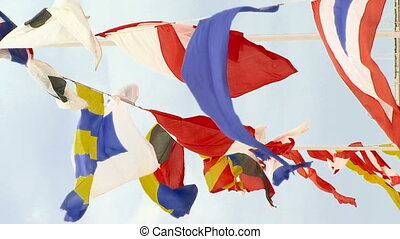 Group of flags - Flags of different countries.