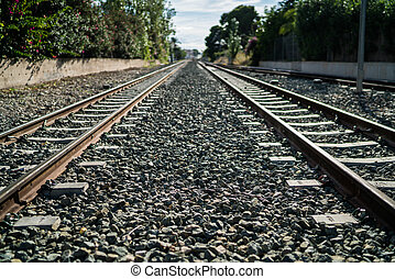 Altea traintrack - The railway track in Altea in Spain
