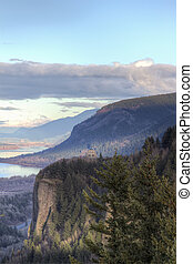 Historic Vista House at Crown Point Overlooking Columbia...
