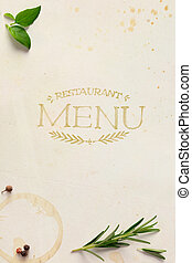 art Traditional Italian home restaurant menu background